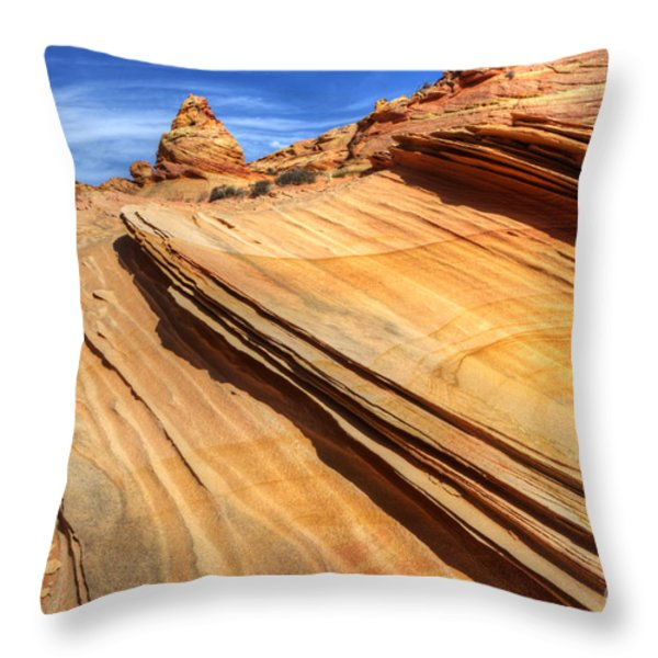 Pages From Natures Story Throw Pillow by Bob Christopher