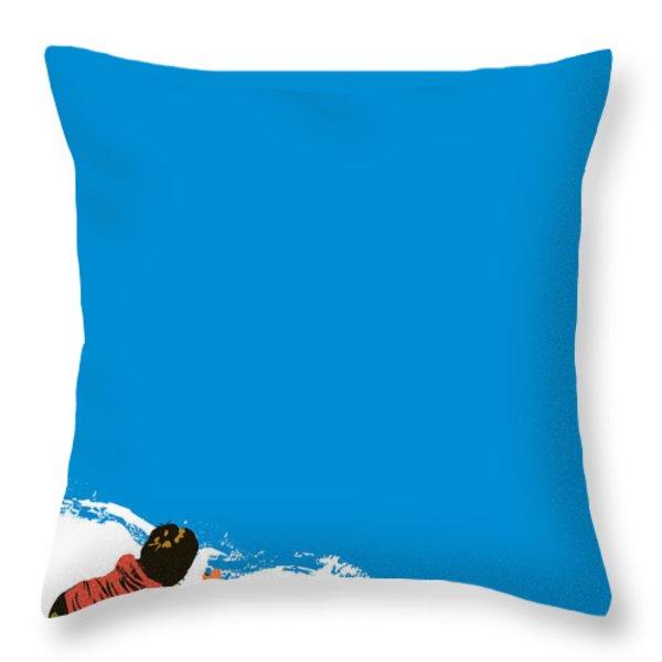 Paint It Blue Throw Pillow by Budi Satria Kwan