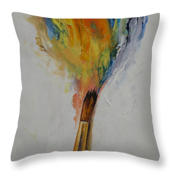 Paint Throw Pillow by Michael Creese