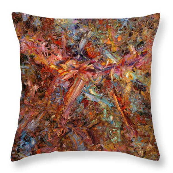 Paint number 43 Throw Pillow by James W Johnson