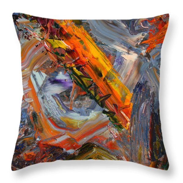 Paint Number 44 Throw Pillow by James W Johnson