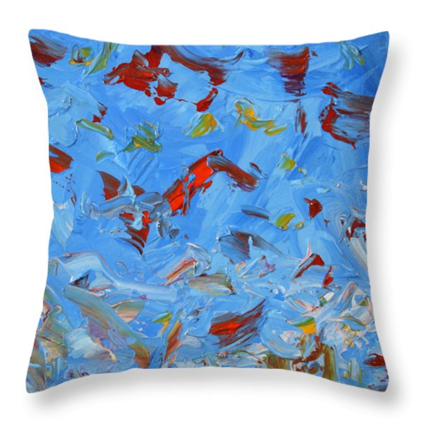 Paint Number 47 Throw Pillow by James W Johnson