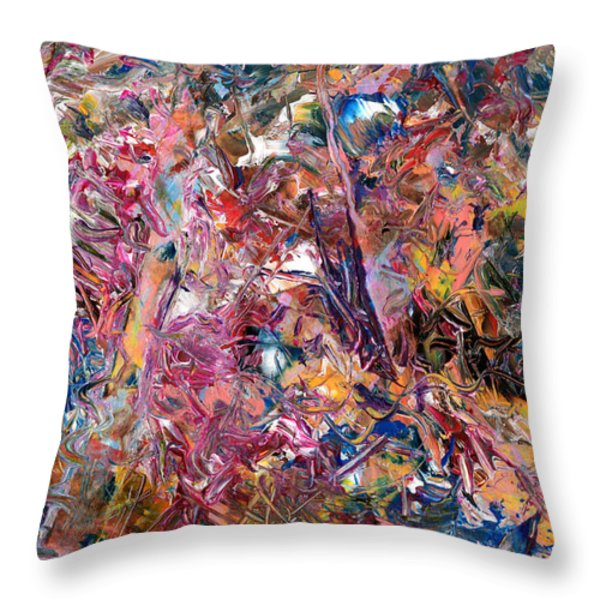 Paint number 49 Throw Pillow by James W Johnson
