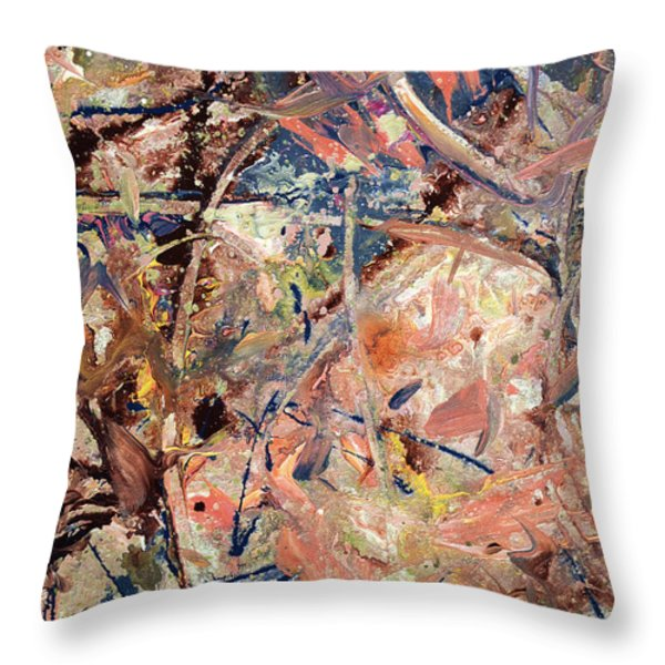 Paint Number 53 Throw Pillow by James W Johnson