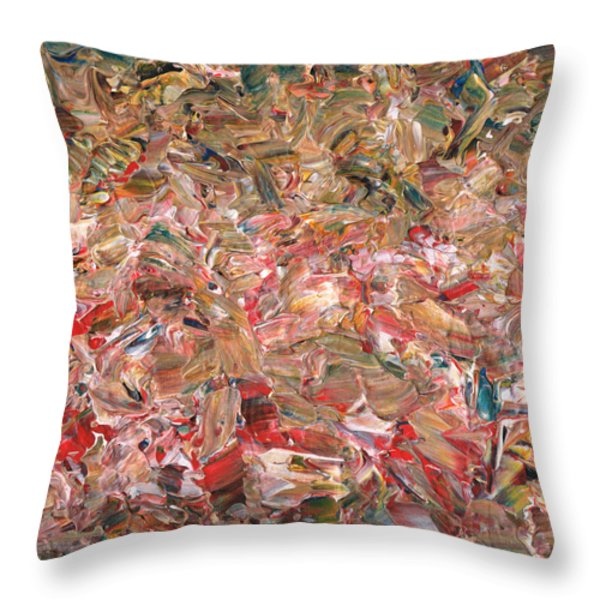 Paint number 56 Throw Pillow by James W Johnson