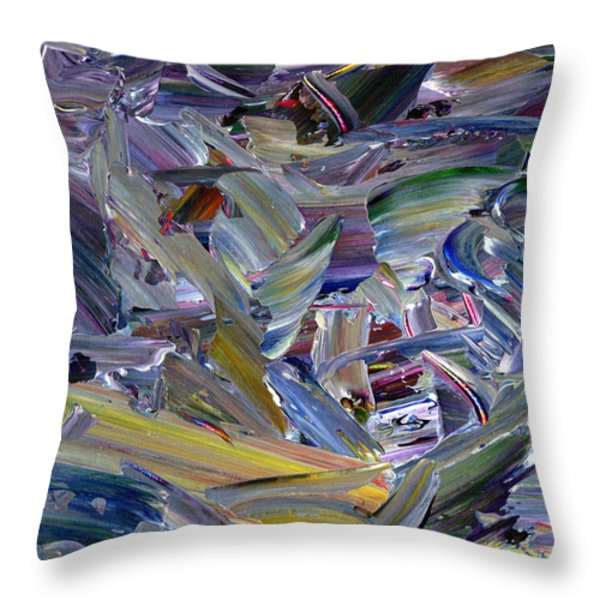 Paint number 57 Throw Pillow by James W Johnson