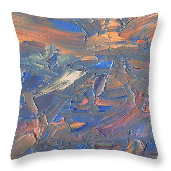 Paint number 58C Throw Pillow by James W Johnson
