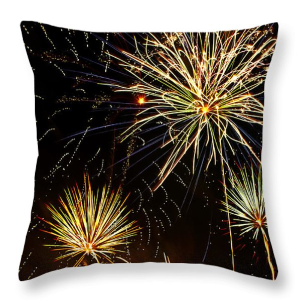 Paint the Sky with Fireworks  Throw Pillow by Saija  Lehtonen