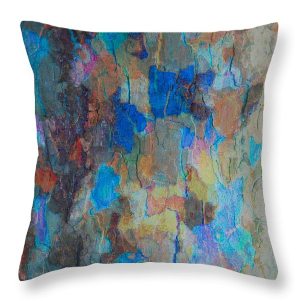 Painted Bark Throw Pillow by Stephanie Grant