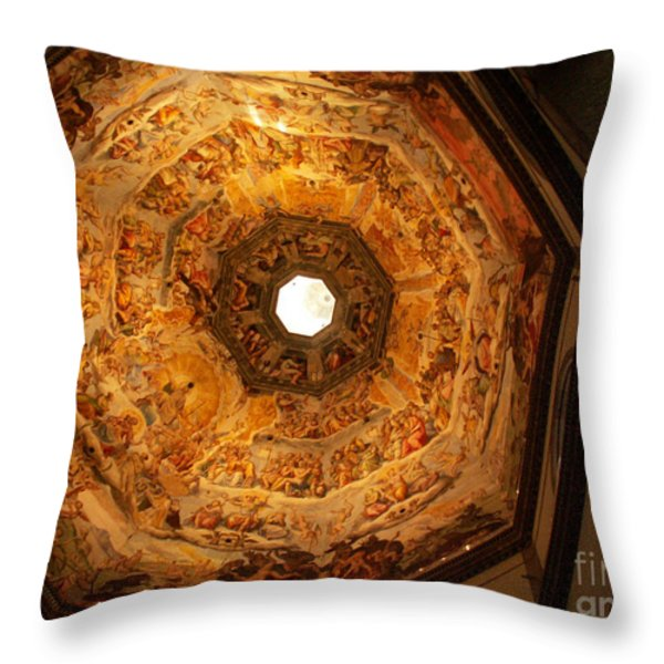 Painted Dome Throw Pillow by Evgeny Pisarev