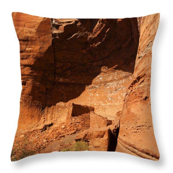 Palatki Throw Pillow by Mike  Dawson