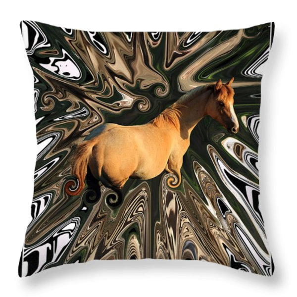 Pale Horse Throw Pillow by Aidan Moran