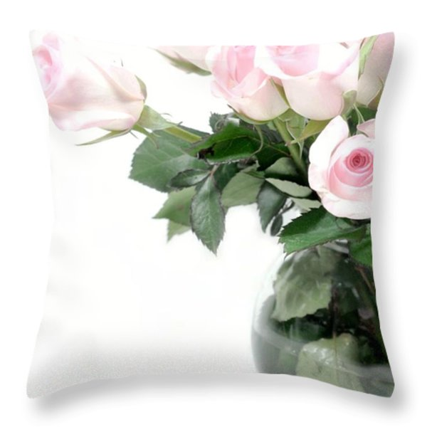 Paler Side of Pink Throw Pillow by Diana Angstadt