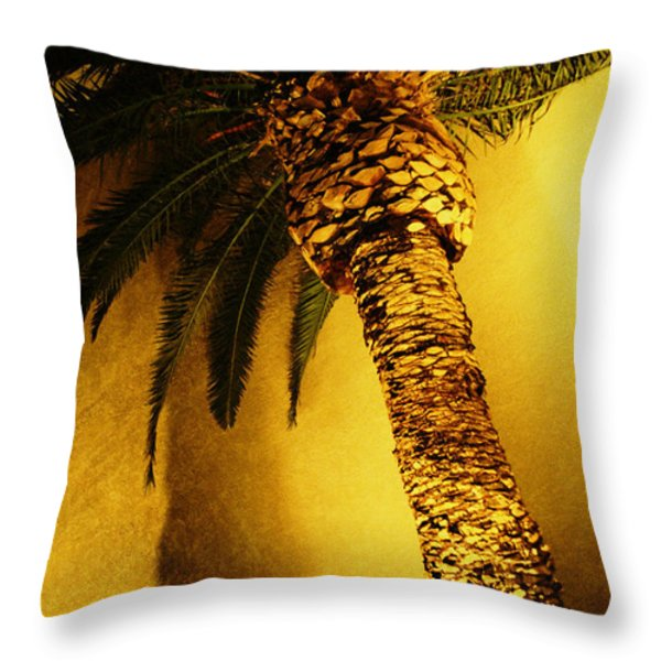 Palm Tree in Vegas. Throw Pillow by Yo Pedro