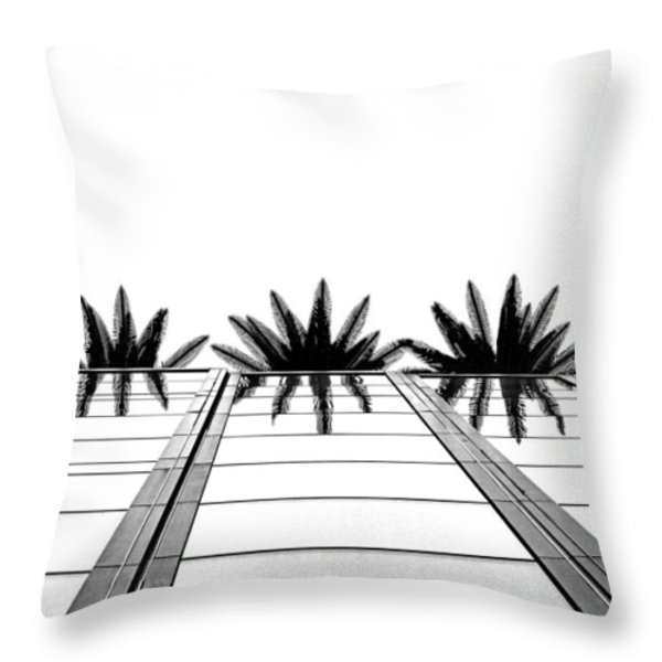 Palms Throw Pillow by Tammy Espino