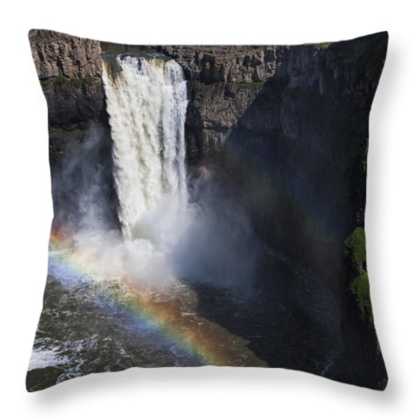 Palouse Falls II Throw Pillow by Mark Kiver