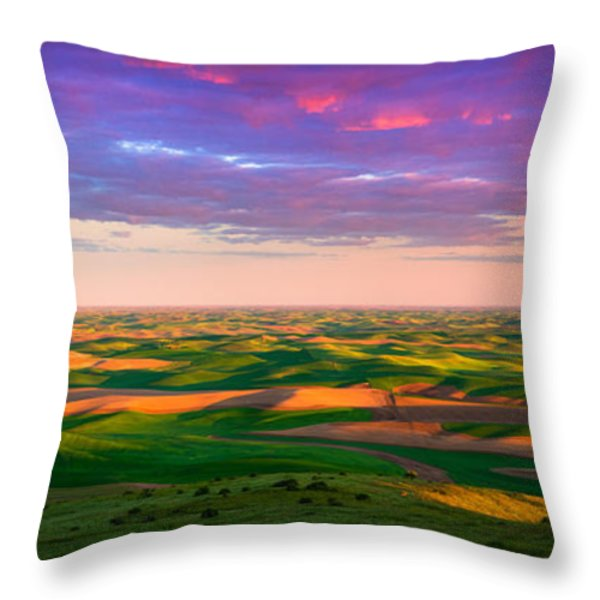 Palouse Land and Sky Throw Pillow by Inge Johnsson