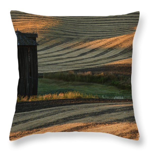Palouse Sunset Throw Pillow by Sandra Bronstein