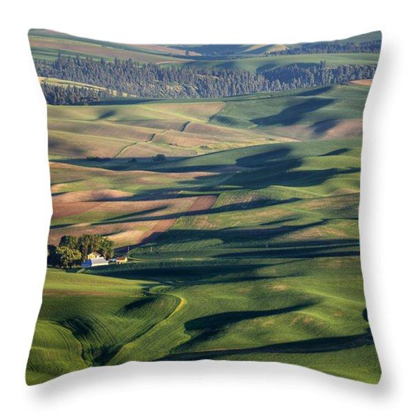 Palouse - Washington - Farms - #2 Throw Pillow by Nikolyn McDonald