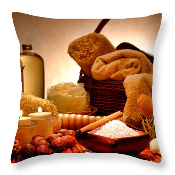 Pampering Throw Pillow by Olivier Le Queinec