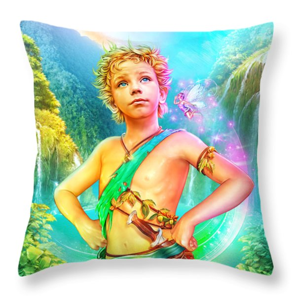 Pan Throw Pillow by Shannon Maer