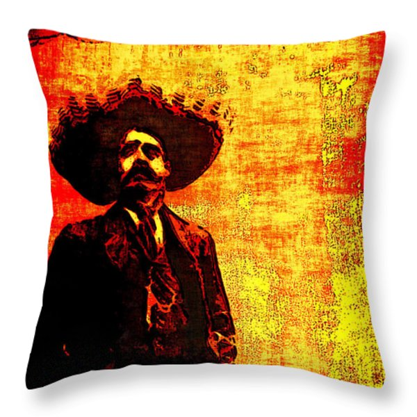 Pancho Villa Throw Pillow by Joan  Minchak