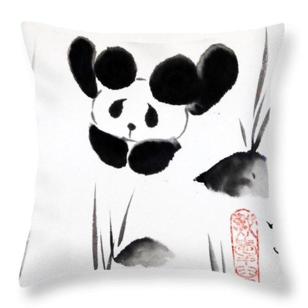 Panda Time Throw Pillow by Oiyee  At Oystudio
