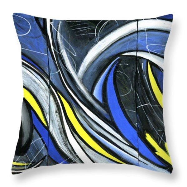 Pandemonium  Throw Pillow by Karyn Robinson