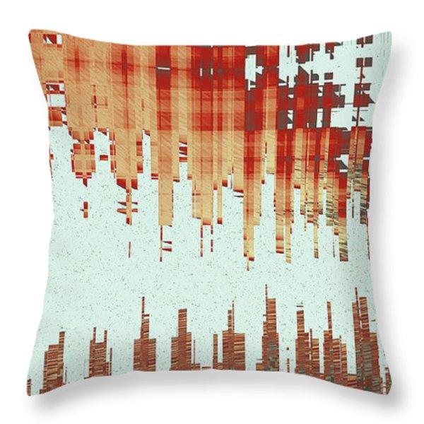 Panoramic City Reflection Throw Pillow by Ben and Raisa Gertsberg