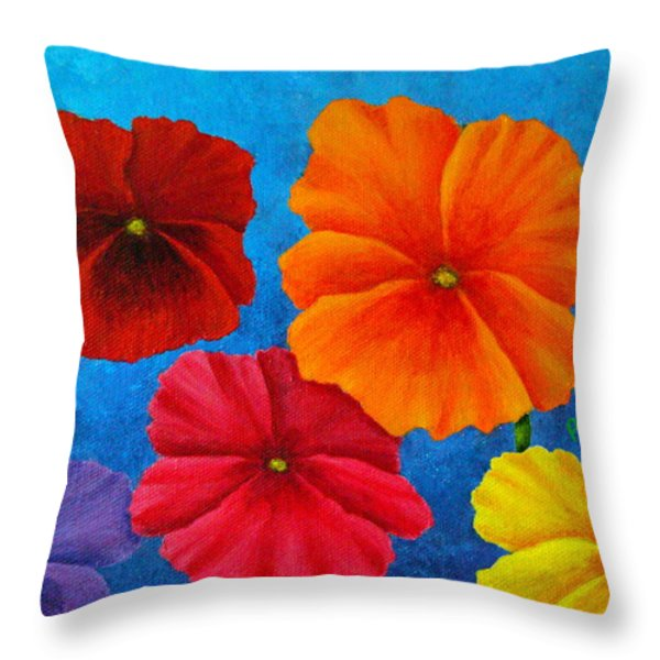 Pansies For Rosalina Throw Pillow by Pamela Allegretto