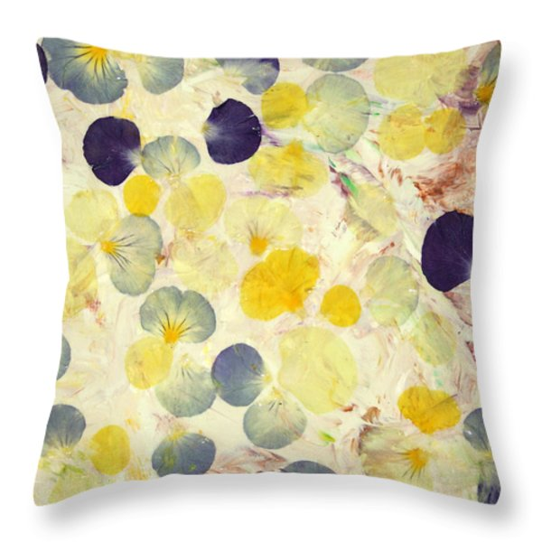 Pansy Petals Throw Pillow by James W Johnson