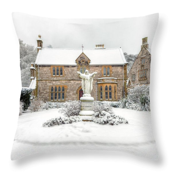 Pantasaph Friary Throw Pillow by Adrian Evans