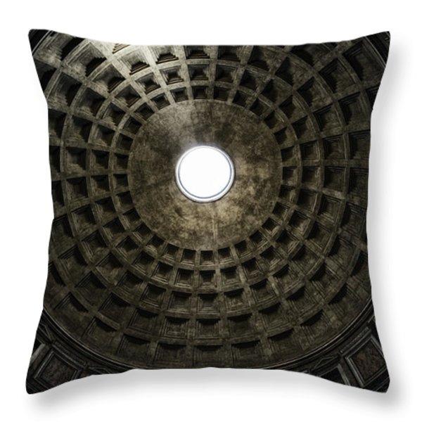 Pantheon Oculus Throw Pillow by Joan Carroll