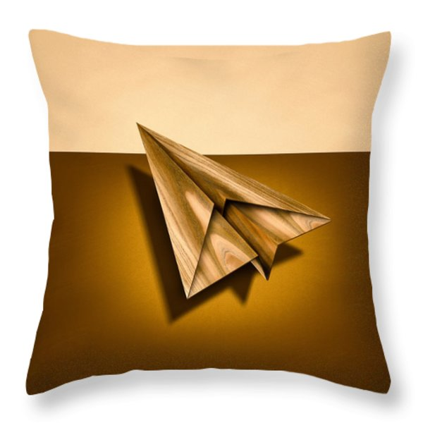 Paper Airplanes Of Wood 1 Throw Pillow by Yo Pedro