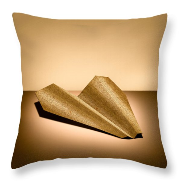 Paper Airplanes Of Wood 6 Throw Pillow by Yo Pedro