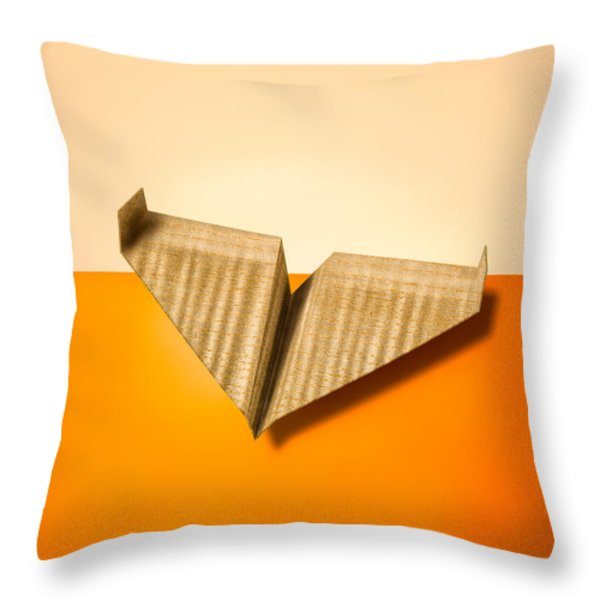 Paper Airplanes Of Wood 8 Throw Pillow by Yo Pedro