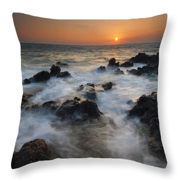Paradise Flow Throw Pillow by Mike  Dawson