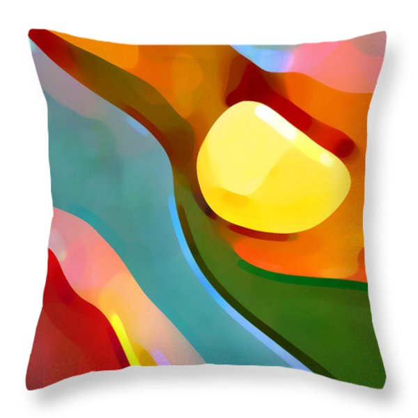 Paradise Found 7 Throw Pillow by Amy Vangsgard