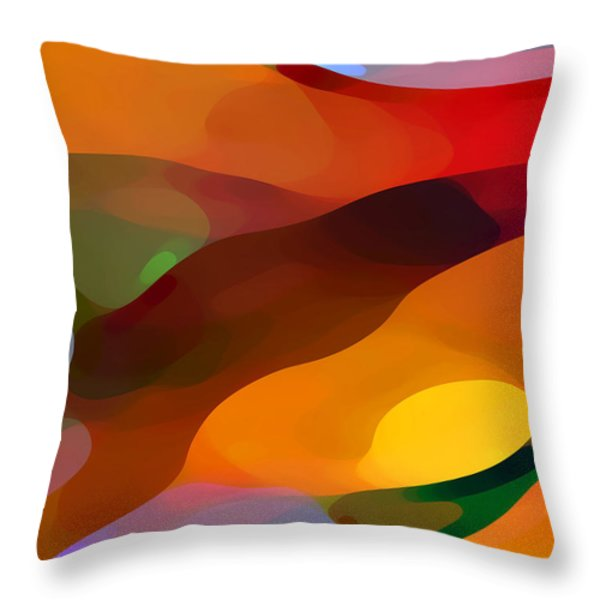 Paradise Found Throw Pillow by Amy Vangsgard