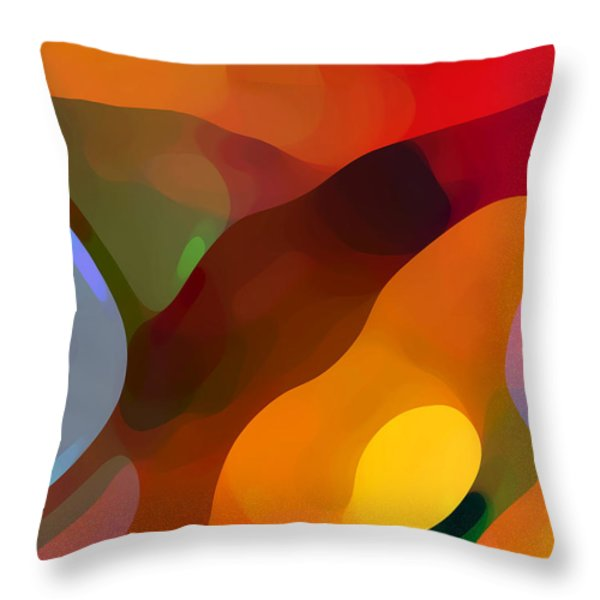 Paradise Found Tall Throw Pillow by Amy Vangsgard