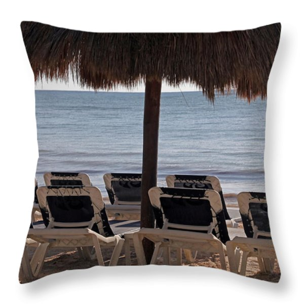 Paradise Throw Pillow by Jim Nelson