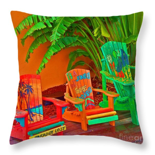 Paradise Lost Throw Pillow by Debbi Granruth