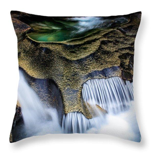 Paradise Rocks Throw Pillow by Inge Johnsson