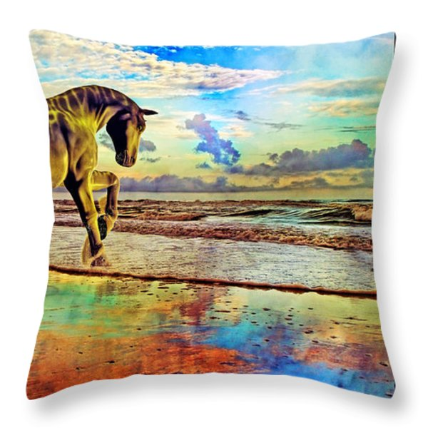 Paradise Sunset Throw Pillow by Betsy A  Cutler
