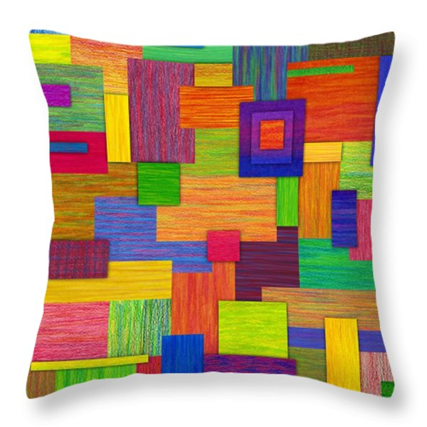 Parallelograms Throw Pillow by David K Small