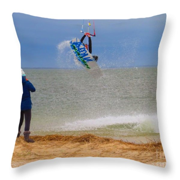 Parasurfer1 Throw Pillow by Rrrose Pix