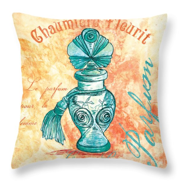 Parfum Throw Pillow by Debbie DeWitt