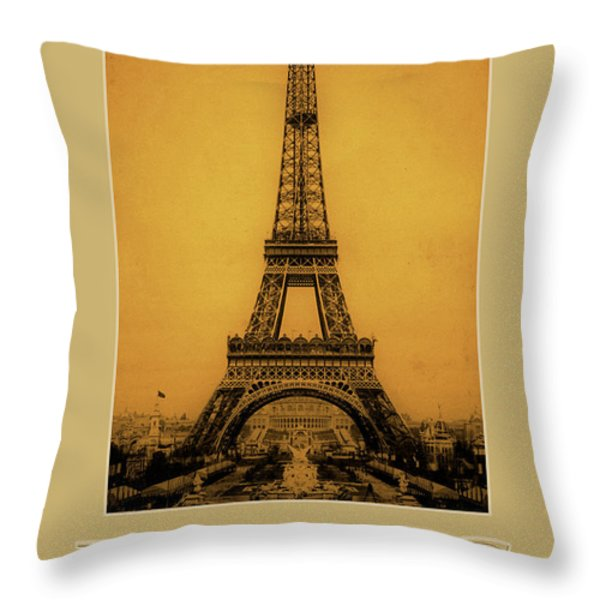 Paris 1889  Throw Pillow by Andrew Fare