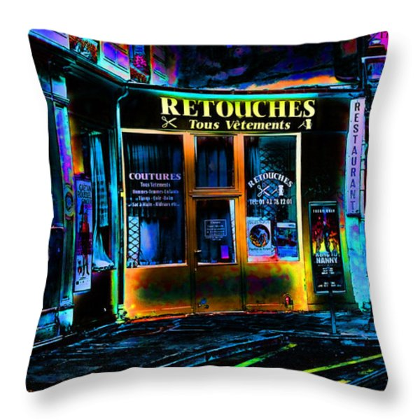 Paris At Night Throw Pillow by EricaMaxine  Price