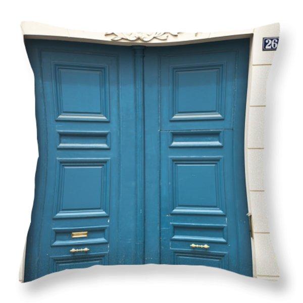 Paris Door Throw Pillow by Nomad Art And  Design